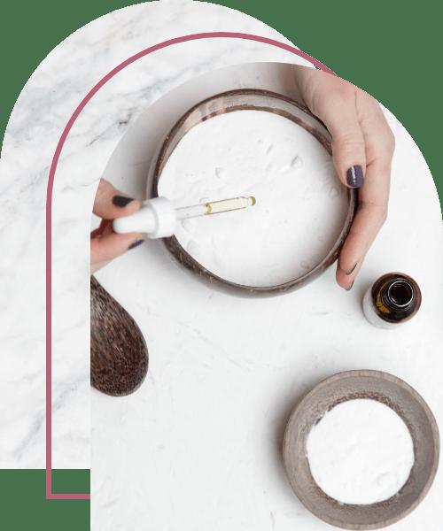 DIY baking soda and essential oil air freshener