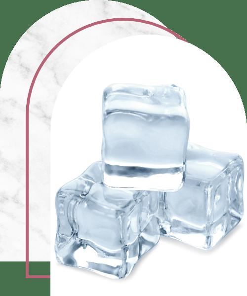 Crystal clear ice cubes