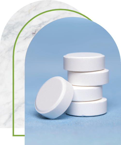 large white round tablets